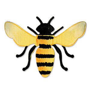 Sizzix - Sizzlits Die - Die Cutting Template - Small - Bee 4