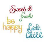 Sizzix - Summer Collection - Sizzlits Die - Medium - 3 Pack - Summer Phrase Set