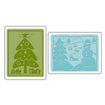 Sizzix - Textured Impressions - Embossing Folders - Christmas Set 5
