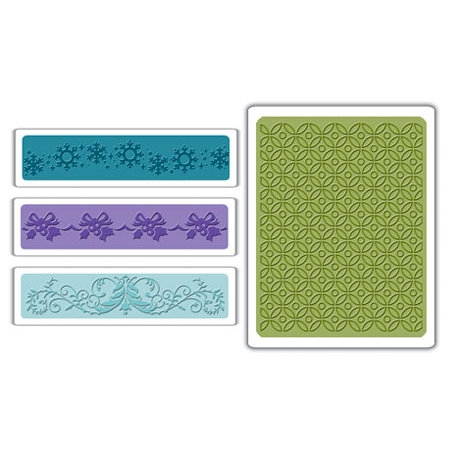 Sizzix - Textured Impressions - Embossing Folders - Christmas Set 6