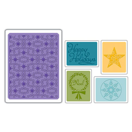 Sizzix - Textured Impressions - Embossing Folders - Winter Set 3