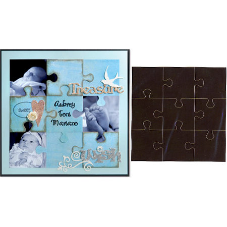 Sizzix - Bigz Pro Die - Backgrounds - Puzzle Page