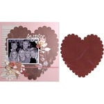 Sizzix - Bigz Pro Die - Die Cutting Template - Backgrounds - Heart, Scallop