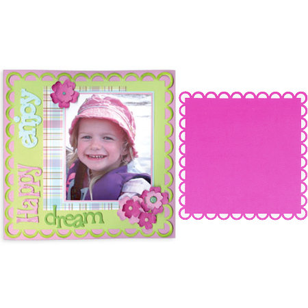 Sizzix - Bigz Pro Die - Backgrounds - Square, Ribbon