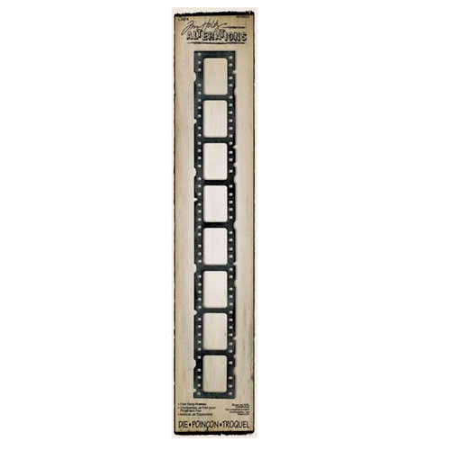 Sizzix - Tim Holtz - Alterations Collection - Sizzlits Decorative Strip Die - Filmstrip Frames