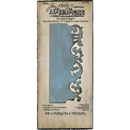 Sizzix - Tim Holtz - Alterations Collection - On the Edge Die - Scrollwork