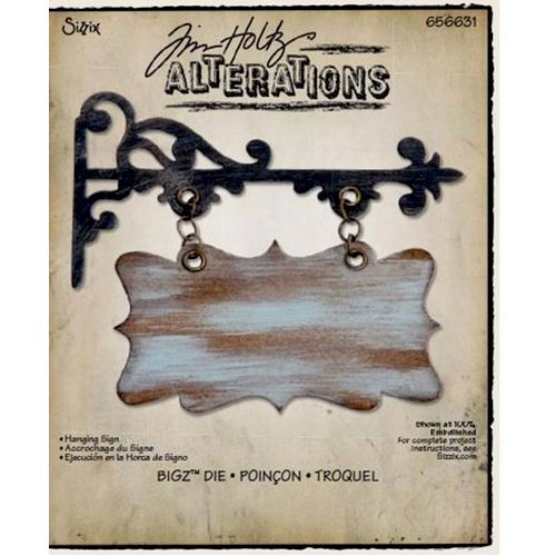Sizzix - Tim Holtz - Alterations Collection - Bigz Die - Hanging Sign
