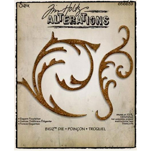 Sizzix - Tim Holtz - Alterations Collection - Bigz Die - Elegant Flourishes