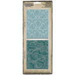 Sizzix - Tim Holtz - Texture Fades - Alterations Collection - Embossing Folders - Damask and Regal Flourishes Set