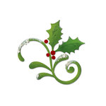 Sizzix - Christmas Collection - Bigz Die - Flourish, Holly and Mistletoe