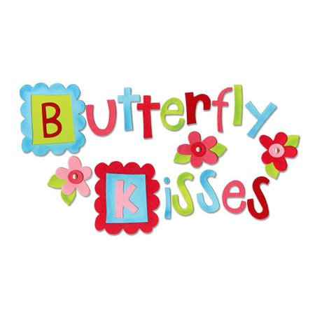 Sizzix - Bigz Die - Die Cutting Template Set - Set of Four -  Butterfly Kisses Alphabet