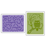 Sizzix - Textured Impressions - Embossing Folders - Bats and Owl Set