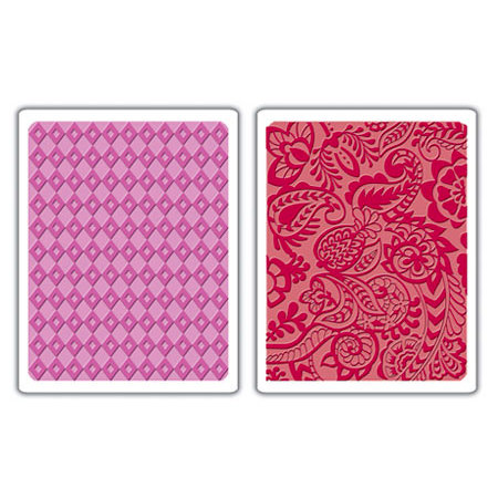 Sizzix - Textured Impressions - Embossing Folders - Diamond and Tropical Paisley Set