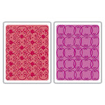 Sizzix - Textured Impressions - Embossing Folders - Flower Vine and Twizzle Set