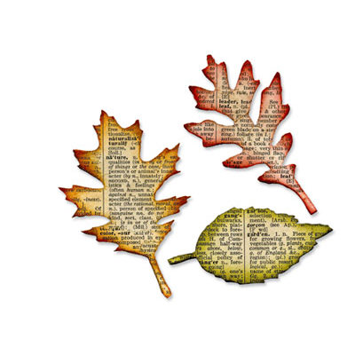 Sizzix - Tim Holtz - Alterations Collection - Bigz Die - Tattered Leaves