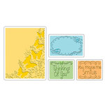 Sizzix - Textured Impressions - Embossing Folders - Butterfly Migration Set