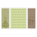 Sizzix - Textured Impressions - Christmas - Embossing Folders - Season's Greetings Set