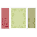 Sizzix - Textured Impressions - Embossing Folders - Peace Poinsettia Set
