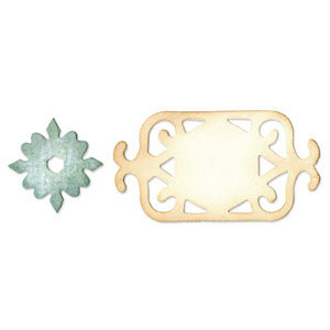 Sizzix - Originals Die - Jewelry - Die Cutting Template - Medium - Frame and Medallion