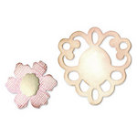 Sizzix - Originals Die - Jewelry - Medium - Frame and Sculpted Flower
