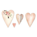 Sizzix - Originals Die - Jewelry - Die Cutting Template - Large - Hearts, Primitive 3