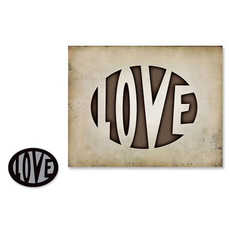 Sizzix - Tim Holtz - Movers and Shapers Die - Alterations Collection - Die Cutting Template - Love