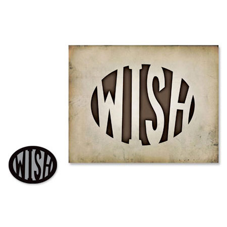 Sizzix - Tim Holtz - Alterations Collection - Movers and Shapers Die - Wish