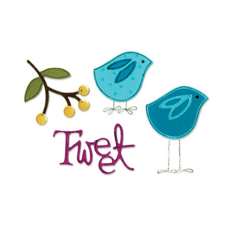Sizzix - Sizzlits Die - Stationery Collection - Die Cutting Template - Small - Bird Set 2