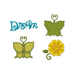 Sizzix - Sizzlits Die - Stationery Collection - Die Cutting Template - Small - Butterfly Set 2