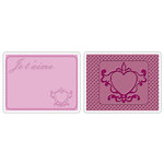 Sizzix - Textured Impressions - Stationery Collection - Embossing Folders - Love Set 3