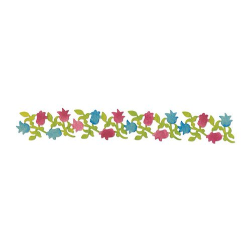 Sizzix - Sizzlits Decorative Strip Die - Country Foliage Collection - Die Cutting Template - Flowering Foliage