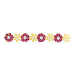Sizzix - Country Foliage Collection - Sizzlits Decorative Strip Die - Windmill Daisies