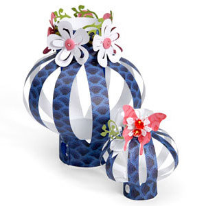 Sizzix - Party Essentials Collection - Bigz XL Die - Lanterns, 3-D