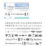 Sizzix - EClips - Electronic Shape Cutting System - Cartridge - Baby Shower and Precious Alphabet