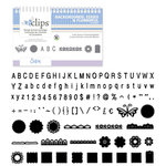 Sizzix - EClips - Electronic Shape Cutting System - Cartridge - Backgrounds, Edges and Flowerful Alphabet