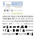 Sizzix - EClips - Electronic Shape Cutting System - Cartridge - Wedding Shower and Big Day Alphabet