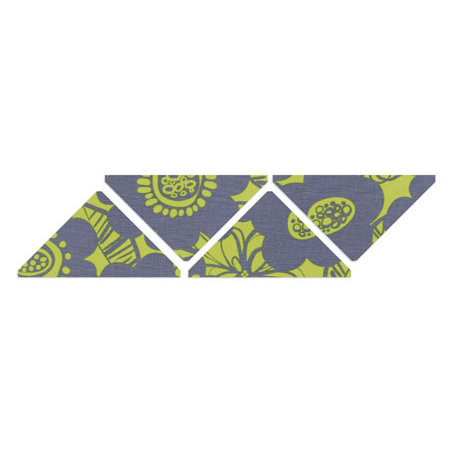 Sizzix - Quilting by Design - Bigz XL Die - Die Cutting Template - 4 Inch Large Finished Triangles
