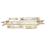 Sizzix - Tim Holtz - Alterations Collection - Sizzlits Decorative Strip Die - Tattered Banners