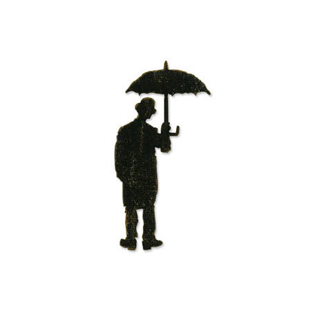 Sizzix - Tim Holtz - Alterations Collection - Bigz Die - Umbrella Man