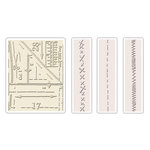 Sizzix - Tim Holtz - Texture Fades - Alterations Collection - Embossing Folders - Pattern and Stitches Set