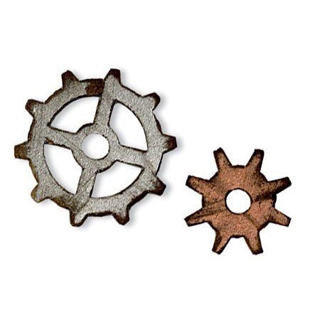 Sizzix - Tim Holtz - Movers and Shapers Die - Alterations Collection - Die Cutting Template - Mini Gears Set