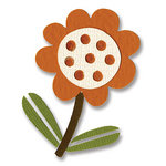 Sizzix - Basic Grey - Figgy Pudding Collection - Sizzlits Die - Small - Flower with Leaves 4