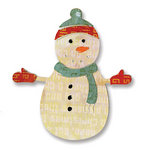 Sizzix - Basic Grey - Figgy Pudding Collection - Sizzlits Die - Small - Snowman 7