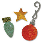 Sizzix - Basic Grey - Figgy Pudding Collection - Sizzlits Die - Medium - Ornaments 3