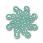 Sizzix - BasicGrey - Embosslits Die - Figgy Pudding Collection - Die Cutting Template - Small - Ornament Swirly