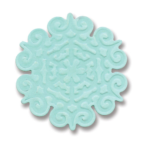 Sizzix - Basic Grey - Figgy Pudding Collection - Embosslits Die - Christmas - Small - Snowflake 2