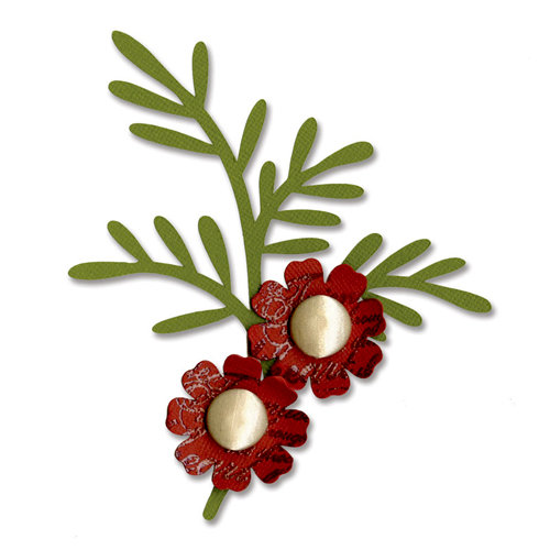 Sizzix - Bigz Die - Branch with Leaves and Flower
