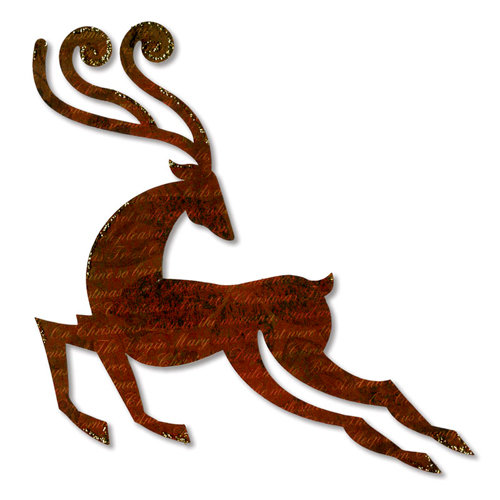 Sizzix - BasicGrey - Figgy Pudding Collection - Bigz Die - Reindeer