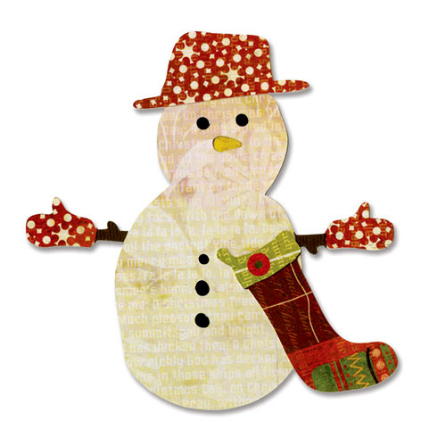 Sizzix - BasicGrey - Figgy Pudding Collection - Bigz Die - Snowman and Stocking