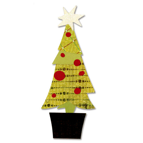 Sizzix - BasicGrey - Figgy Pudding Collection - Bigz Die - Tree, Christmas Layered